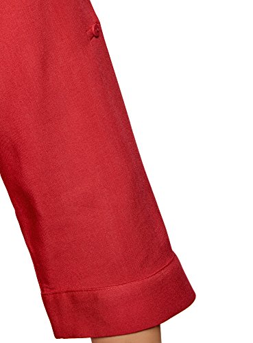 Viscose Rglable Blouse Femme en Manche 4500n oodji Rouge Ultra xYaRqAwI