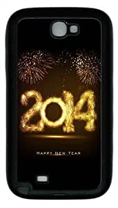 2014 Happy New Year Fireworks TPU Rubber Iphone 5/5S - Black