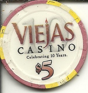 $5 viejas casino celebrating 10 years poker casino chip alpine - Viejas Alpine
