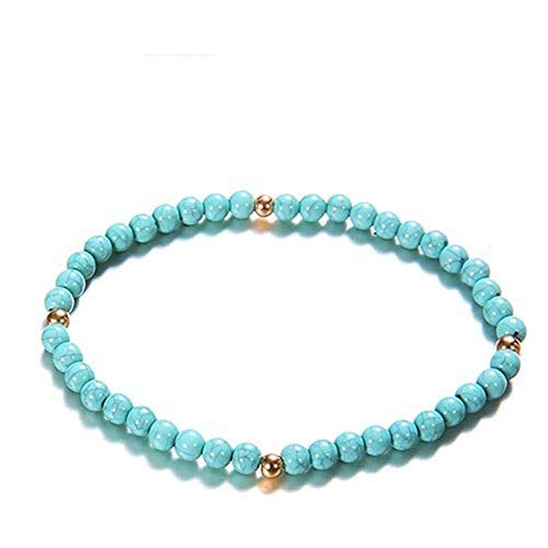 Anklet Foot Jewelry bracelet for men Fashion Beach Section bracelet string colorful  nikunLONG (Baguette Bracelet Rope)