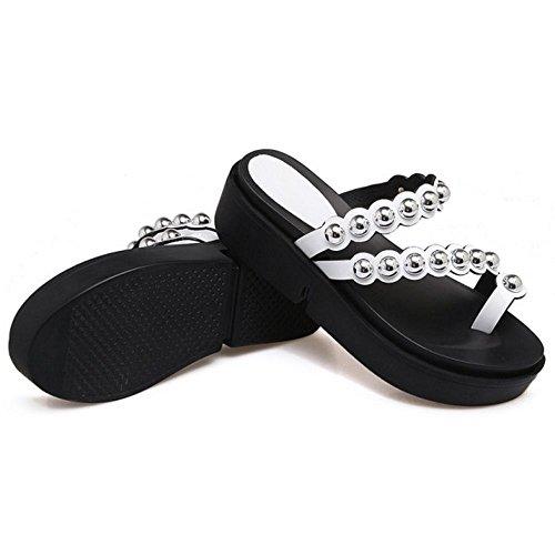 Été White Plateforme Femmes Pantoufles Sandales Sandales RAZAMAZA Confort pfAxc1q