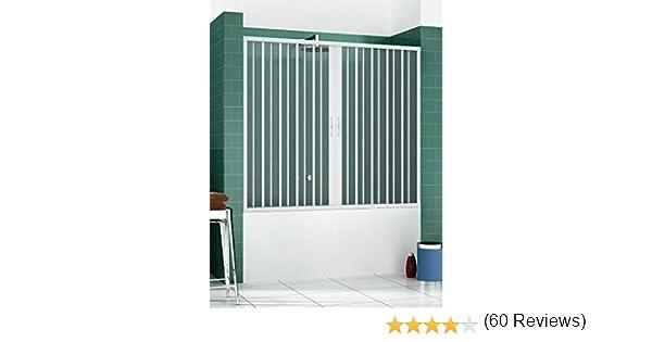 RL Puerta Mampara de bañera 170 CM de PVC Mod. Nina con Apertura Central: Amazon.es: Hogar