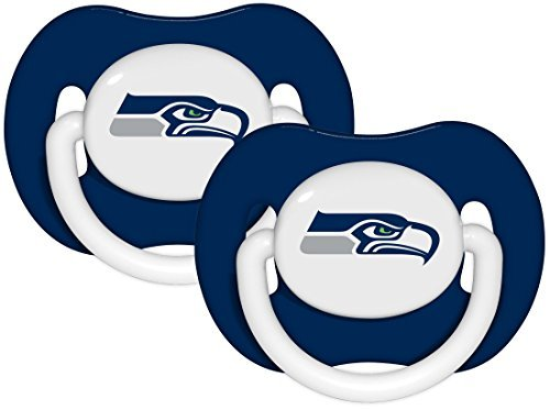(NFL Football 2014 Baby Infant Pacifier 2-Pack - Pick Team (Seattle Seahawks - Solid))