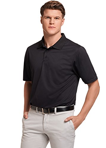- Russell Athletic Men's Dri-Power Performance Golf Polo, Black, 4XL