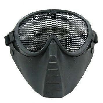 Bheema Tactical CS Cara máscara protectora ventilada Antigas gorro Máscaras - Black