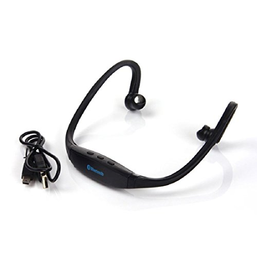 Modes Wireless Sports Wireless Stereo Bluetooth Wrap Around Earphones Headset Headphone For Samsung iPhone Cellphone PC Black