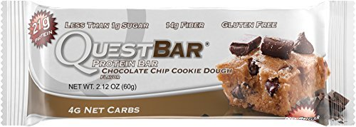 Price comparison product image Quest Nutrition Protein Bar, Chocolate Chip Cookie Dough, 20g Protein, 2.1oz Bar, 12 Count Size: 12 Count FlavorName: Chocolate Chip Cookie Dough, Model: QPBCCD12, Electronic Store & More
