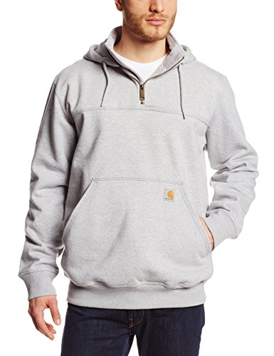 - Carhartt Men's Rain Defender Paxton Heavyweight Hooded Sweatshirt, Heather Gray, Large