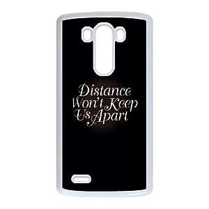 LG G3 Cell Phone Case White distance wont keep us apart JNR2247991