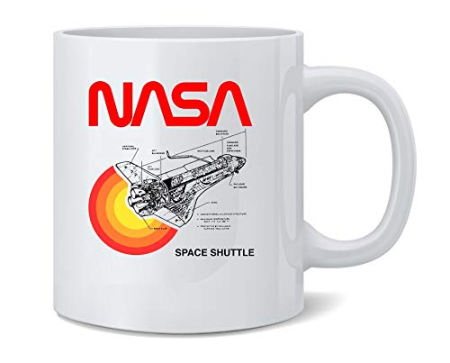 Space Shuttle Diagram NASA Approved Coffee Mug Tea Cup 12 oz