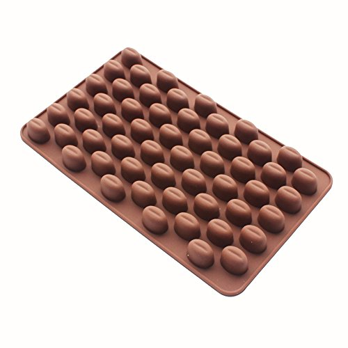 X-Haibei Coffee Beans Chocolate Candy Ice Cube Cake Decoration Silicone Bakeware Mould ()
