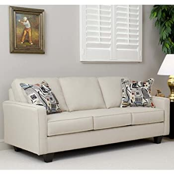 Amazon.com: Aries Sofa by Serta Upholstery Color: Graham Cream ...