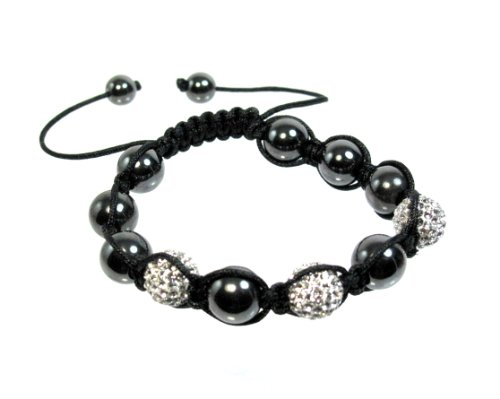 Swarovski 3 Crystal Colored Bracelet with 10 Hematite Shamballa Replica1
