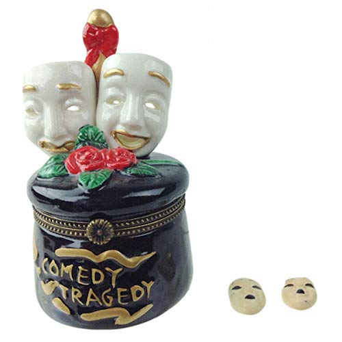 (Essence of Europe Gifts E.H.G Tragedy and Comedy Mask William Shakespeare Jewelry Box)