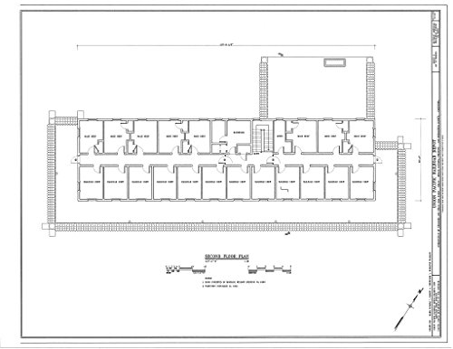 (historic pictoric Blueprint Diagram HABS Cal,36-Kelso,1- (Sheet 5 of 10) - Union Pacific Railroad Depot, Intersection of Kelbaker & Kelso CIMA Roads, Kelso, San Bernardino County, CA 44in x 32in)
