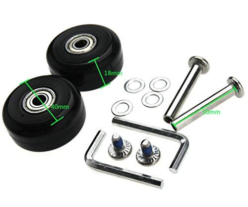 Coppia di valigie 40 mm di ricambio ruote di riparazione assali Deluxe kit di riparazione