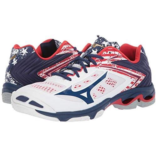 mizuno men's wave lightning z5 indoor court shoe watch white