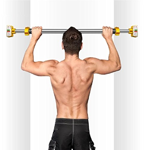 MAXSOINS Door On The Horizontal Bar Pull-up Fitness Equipment, Household Indoor Wall Bar, Horizontal Bar, Parallel bars, No Need To Drill,Patent Design (Steel, 90-110CM(35.5-43.3IN))
