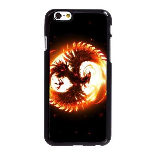 I1M97 Fenix ??oiseau D3M4KL coque iPhone 6 4.7 pouces cas de couverture de téléphone portable coque noire RX6SEE0JQ