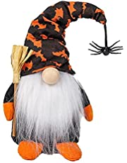 NIDONE Halloween Gnome Wizard Spider Swedish Tomte Nisse Plush Doll for Halloween Party Style 2