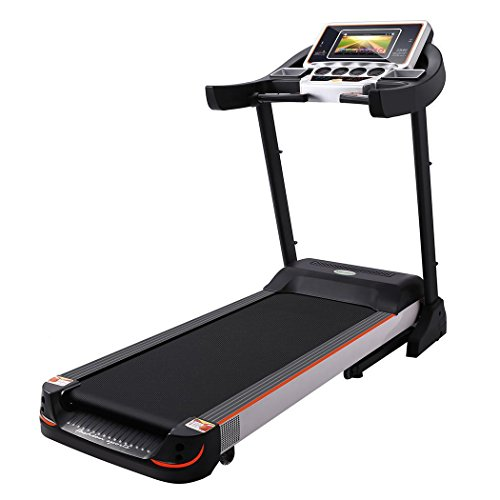 "Meoket Treadmill, 10.1"" WIFI Large Color Touch Screen 3.0 HP Folding Electric Treadmill/Support Play Movies/0.5-9.9MPH/308 lbs"