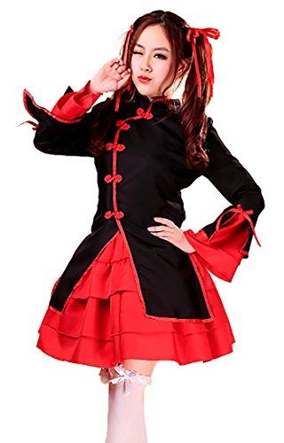 VSVO 5-Piece Set Maid Costume Cosplay Lolita Dress