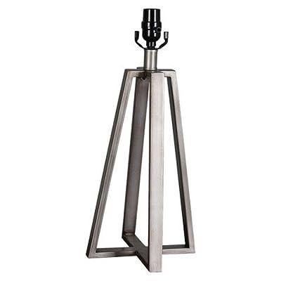 "Thresholdâ""¢ Linear Brushed Lamp Base - Silver Large"