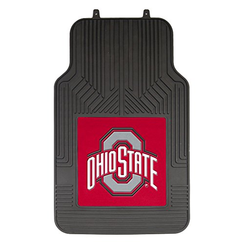 Officially Licensed NCCA Ohio State Buckeyes Auto Front Floor Mat, 2-Pack ()