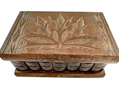 - Handmade Wooden Puzzle Jewelry Box from Kalotart. One of a Kind Magic Case with Hidden Key & Removable Compartments. Stunning, Impressive Gift. Like Those Prized by European Royalty All Brown