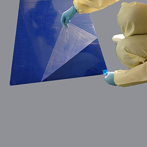 10 mats/Box, 30 Layers per Pad, 18'' x 36'', 4.5 C Blue Sticky mat, Cleanroom Tacky Mats/PVC Sticky Mats/Adhesive Pads, Used for Floor (for Home/Laboratories/Medical Offices use) by Cleanmo (Image #3)