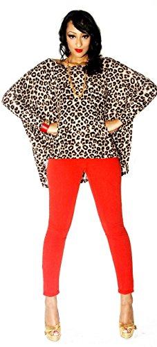 SuperModelGear Women's Sasha Overd Sweater Large Leopard Print