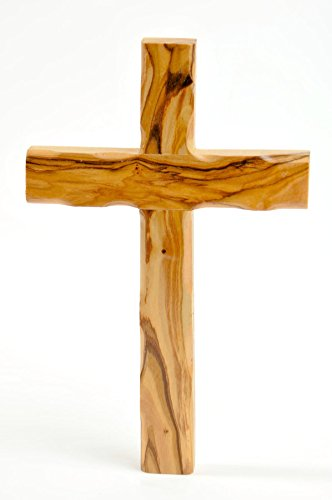 My Caring Cross Olive Wood Wall Crosses from The Holy Land (8 Inches, Catholic Wall Cross)