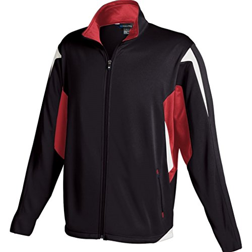 Holloway Youth Dedication Jacket (Medium, Black/Scarlet/White)