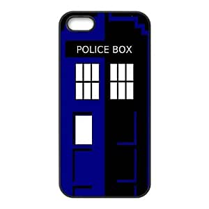 C-EUR Diy Doctor Who TARDIS Police Call Box Hard Back Case for Iphone 5 5g 5s