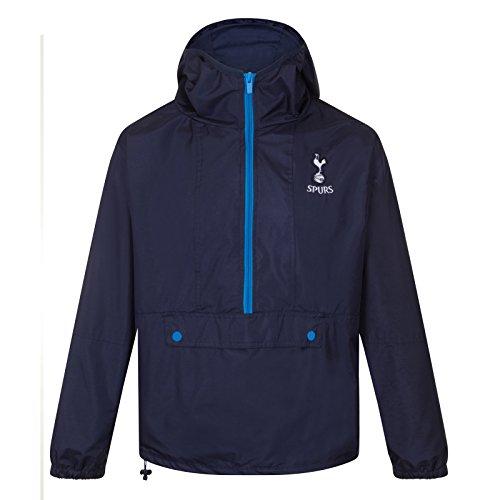 Tottenham Hotspur FC Gift Mens Half Zip Shower Jacket Windbreaker Navy XL (Away Hotspur Tottenham Shirt)