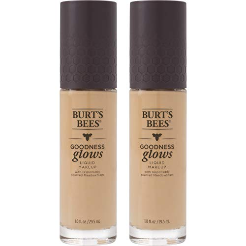Burt's Bees Goodness Glows Liquid Makeup, Linen Beige - 1.0 Ounce (Pack of 2) ()