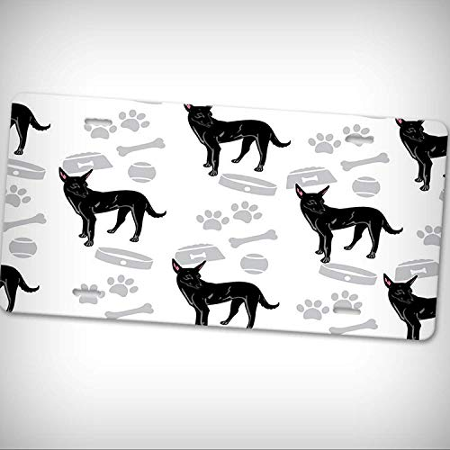AUdddflicenshf Formosan Mountain Dog Bone Bowl Collar Car Aluminum Tag Novelty License Plate - Sign Home Garage Office Decor