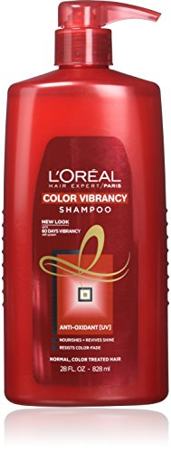 Color Protecting Leave - L'Oréal Paris Hair Expert Color Vibrancy Protecting Shampoo, 28 fl. oz. (Packaging May Vary)
