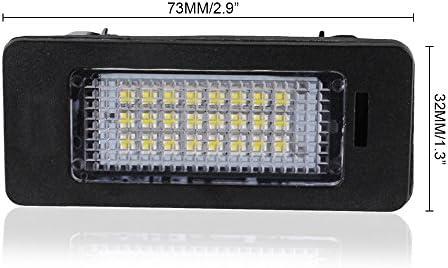 Yuk 2 x Licence plaque dimmatriculation lumi/ère LED Lampe pour A4 B8 A5 Q5 Passat S5 erreur gratuit