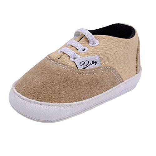 Hzjundasi Baby Schuhe Junge Mädchen Segeltuch Kleinkind Anti-Rutsch Erstes Gehen Krippe Schuh 0-24 Monate 12 Farbe Khaki