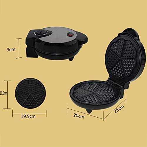 LXTIN Gaufrier Iron Machine Electric, Moule en Acier Inoxydable, plaques antiadhésives contrôle Automatique de la température, Conception compacte en Acier Inoxydable