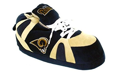 Comfy Feet LAR01-3 - Los Angeles Rams - Large - Happy Feet NFL Slippers by Comfy Feet