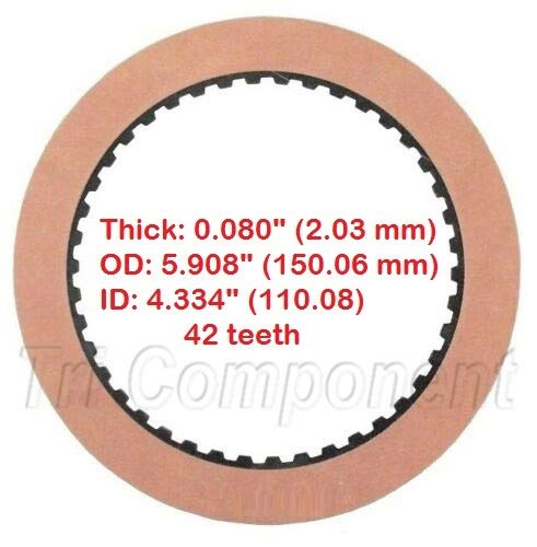 Friction Plate, Forward/Direct Clutch (Smooth) TH400 3L80 4L80E 1965-Up 8655619