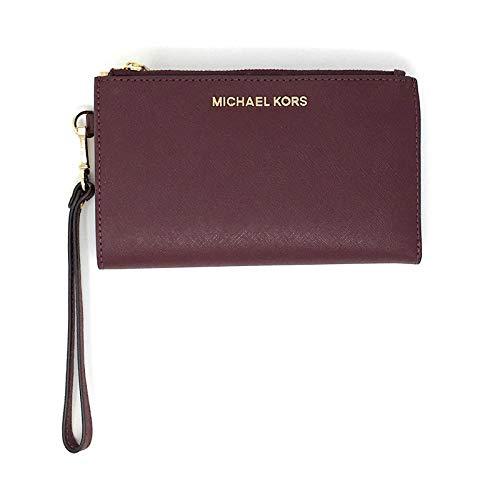 Michael Kors Jet Set Travel Large Double Zip Wristlet - Merlot, Medium