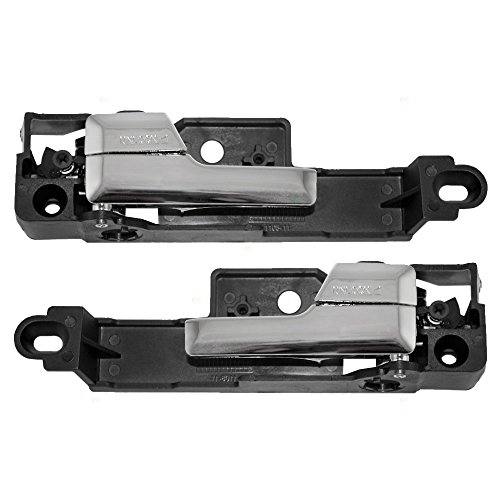 Driver and Passenger Inside Interior Inner Front Chrome Door Handles Replacement for Ford Lincoln Mercury 6E5Z5422601A 6E5Z5422600AA ()