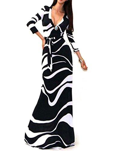 Zebra Print Maxi Dress - 8
