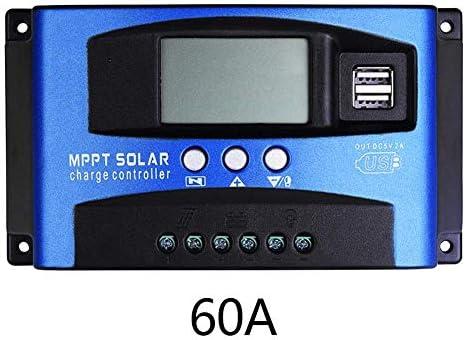 Lovearn Solar Ladegerät Controller, 40/50/60 / 100A MPPT Solar Panel Regler Laderegler 12 V / 24 V Autofokus-Tracking (60A)