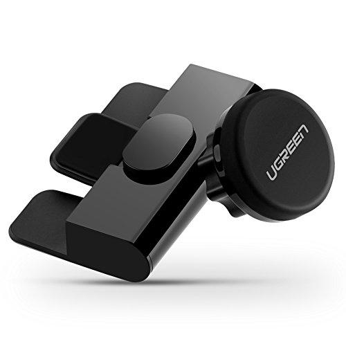 インディカカナダバッテリーUGREEN マグネットホルダー CDスロット取付型 車載ホルダー スマホ カーマウントホルダー iPhone, Samsung Galaxy, LG G5, Nexus 6P 5X等4?6インチ, GPS対応