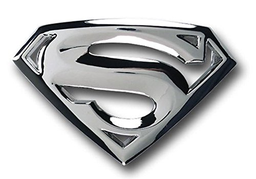 Classic New Silver Superman Superhero Western Mens Metal Belt Buckle Leather - Metal Licensed Belt Buckle