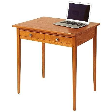 Manchester Wood Compact Shaker Desk   Golden Oak